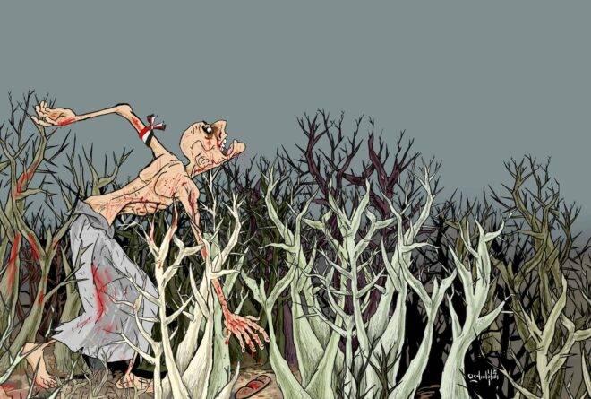 كاريكاتير | انتزاع رغيف الخبز!