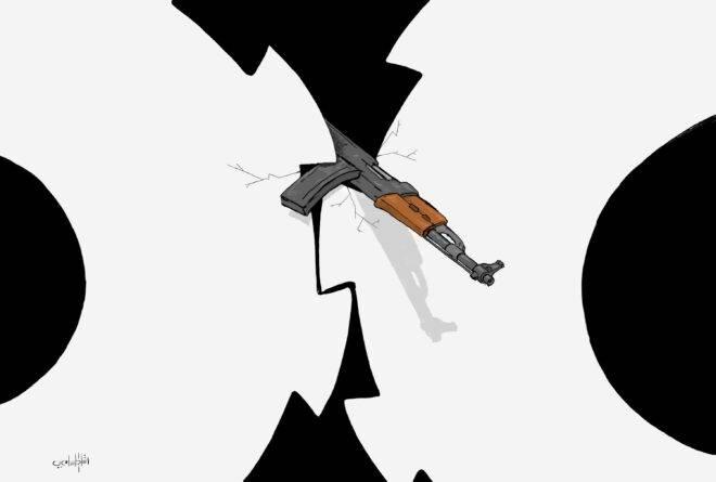 كاريكاتير: هل توقف الاشتباكات عجلة السلام؟