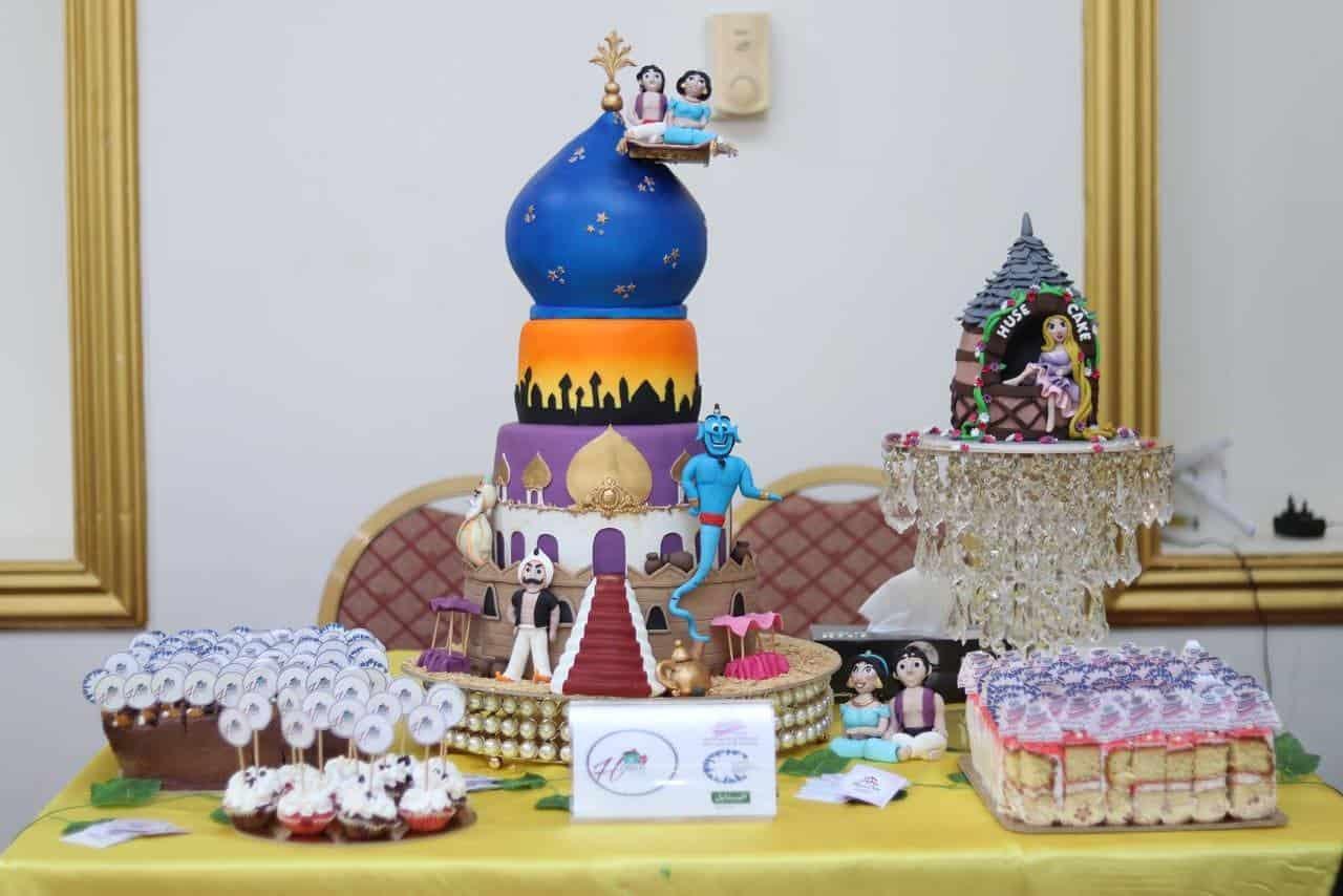 مجسم من الكيك مستوحى من قصة علاء الدين والمصباح السحري