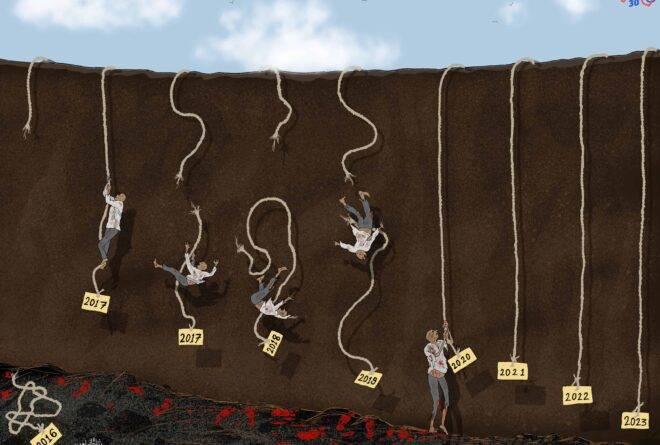 كاريكاتير | حبال الأمل!