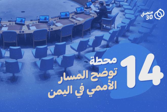 14 محطة تلخص المسار الأممي في اليمن