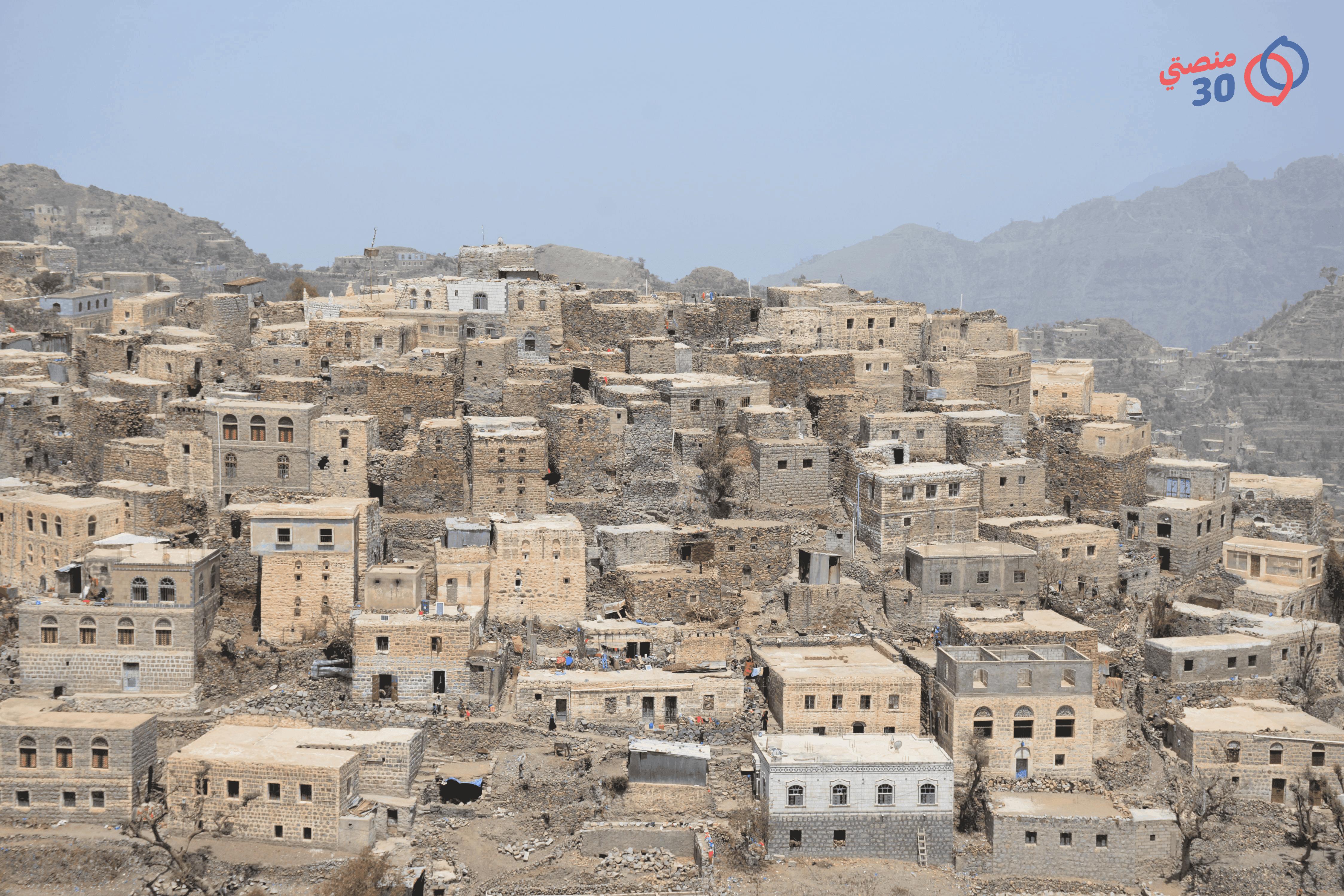 قرية الشقب في ريف تعز
