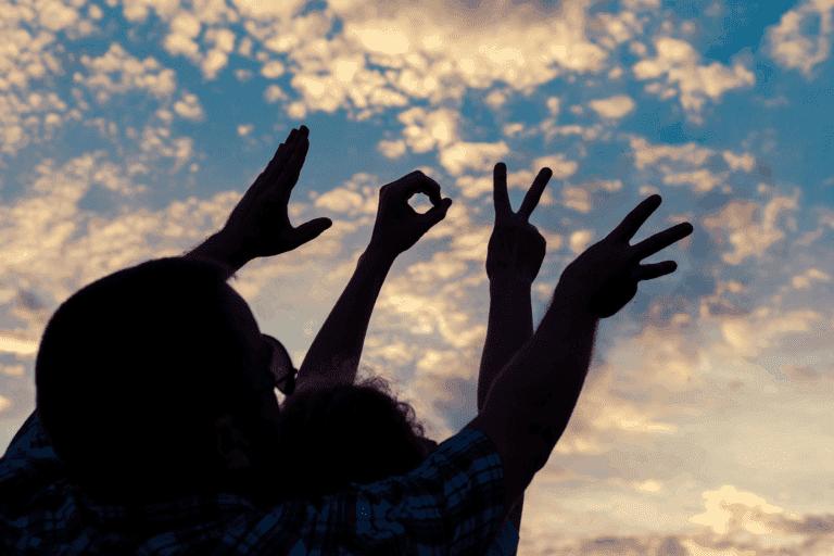 لغة الإشارة السلام اليمن